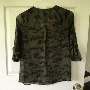 Express Tops - Camo print blouse